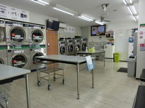 コインランドリーで布団洗濯