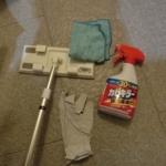 風呂天井の大掃除