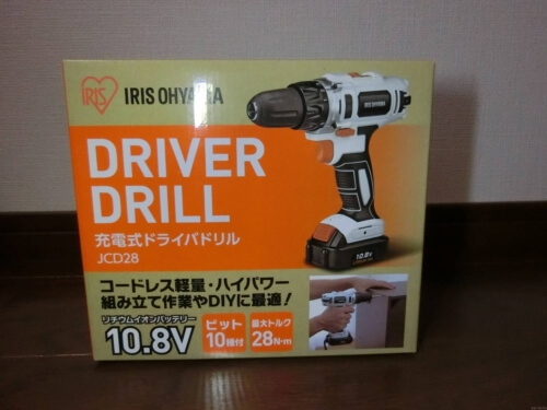 【DIY】アイリスオーヤマの電動ドライバーを購入