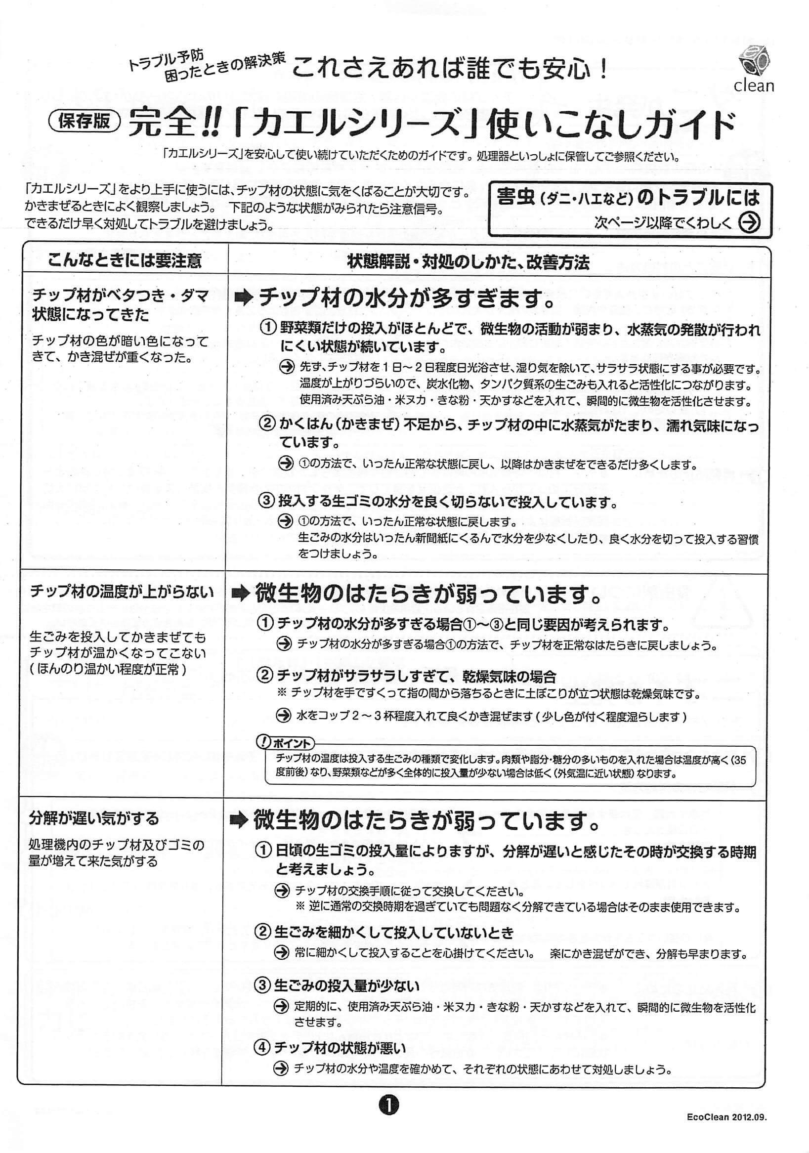 【取扱説明書】家庭用コンポスト (自然にカエルS SKS-101)