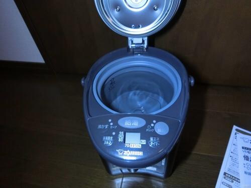 【授乳用に】象印の魔法瓶電気ポットを購入 VE電気まほうびん 優湯生 CV-EV22BK