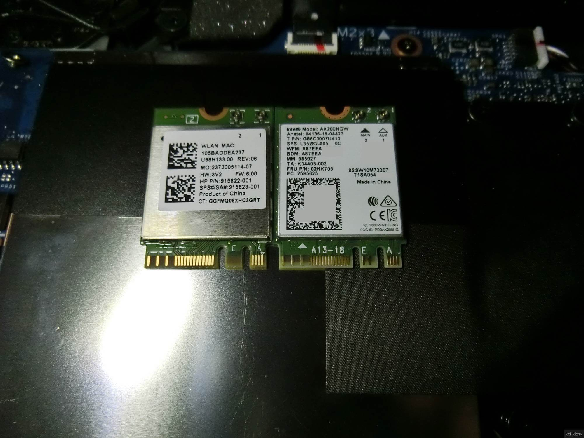 【DIY】HP x360 ENVY 15をAX200NGWでWifi6に対応させた話