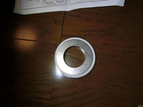 キッチンの混合栓:穴径変換アダプターを導入(55mm→36mm)